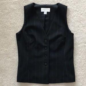 Women's Black With White Stripe Vest